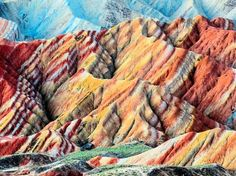 It looks like a big painter's brush did her a colorful job. Nop. Welcome to the spectacular views of Nantaizi village of Nijiaying town, in Linzhe county of Zhangye, Gansu province of China Read. Naturally colored rocky landscapes gives fresh and unique color tone.