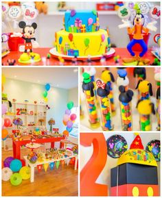 Mickey Mouse and Friends Birthday Party with Lots of Really Cute Ideas via Kara's Party Ideas | Cake, cupcakes, favors, games, printables, and MORE! KarasPartyIdeas.com #mickeymouse #mickeymouseparty #partyplanning #eventstyling #partystyling #partyideas (1)