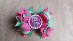 Katerina Kitty Cat girls hair bows. Set of by Platinumprincessbows
