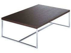 Stainless steel flatbar coffee table