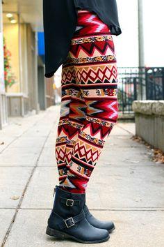 Foxy Fur-lined Leggings