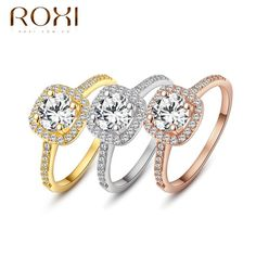 ROXI Brand Delicate Crystal Cubic Zirconia Rings Jewelry Wedding Ring Best Gift For Women Luxury Austrian Crystal Ring 101009438