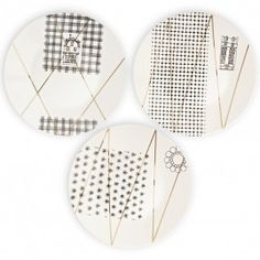 Collage dinner plate 3pz A