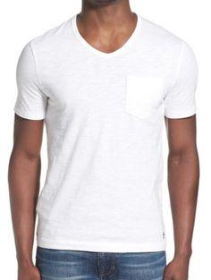 men's v-neck pocket t-shirt