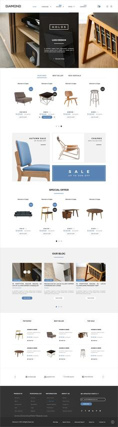Diamond is a wonderful #PSD template for luxury #furniture shop #eCommerce website with 6 homepage layouts and 50+ layered PSD files download now➩ https://themeforest.net/item/diamond-multipurpose-luxury-ecommerce-psd-template/19494741?ref=Datasata