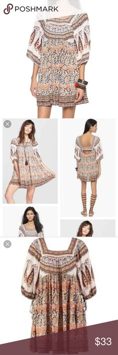 Women's Snap Out Of It Midsummers Dream Dress ***Never worn Free People summer dress. Light and soft fabric. Has a cute opening to show off your upper back!!! It is a super great deal!!!!  🌼🌻🌞 Free People Dresses Mini