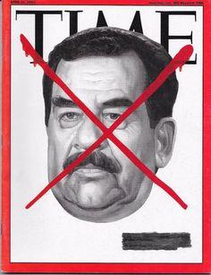 TIME MAGAZINE APRIL 21 2003 4/21/03 IRAQ SUDDAM HUSSAIN Bloody Red X WIFI SAKE