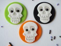 Halloween Fondant Skull Edible Cupcake by KonfectionKreations, $13.00