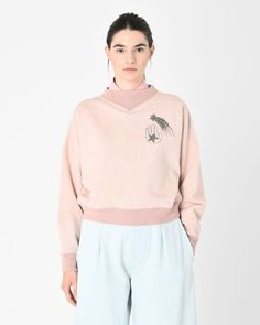 ODILON embroidered cotton sweatshirt