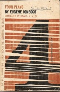 4 Plays by Eugene Ionesco. Book cover design by Roy Kuhlman #midcentury