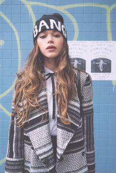 #hat#bang#coat#stripes