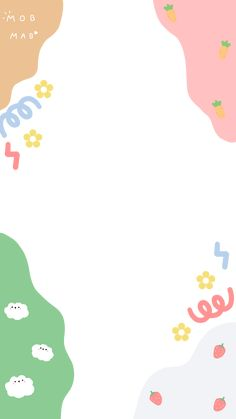 Cute Pastel Wallpaper, Soft Wallpaper, Cute Patterns Wallpaper, Kawaii Wallpaper, Cute Wallpaper Backgrounds, Wallpaper Iphone Cute, Cute Cartoon Wallpapers, Birthday Post Instagram, Instagram Frame Template
