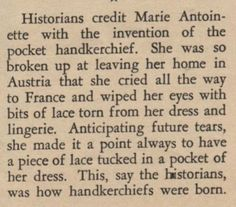 I love the history behind the use of vintage handkerchiefs.