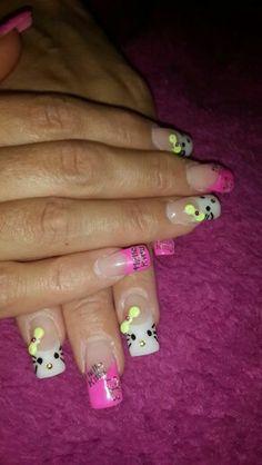 Hello kitty nails love