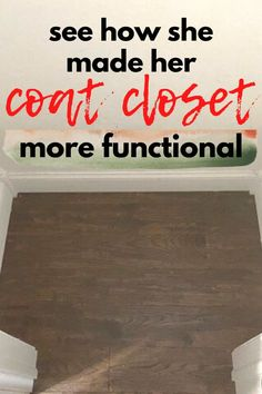 Typical, small, crammed coat closet, with things falling off of hangers and shoes scattered everywhere - if this sounds like your builder grade entryway closet then you're in luck. Check out this quick and easy coat closet organization makeover you can do for cheap. With a better storage system for your entry closet this is a real time saver and gets you out the door faster when you can find everything you need.