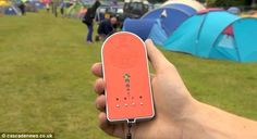 Lost your friends at a festival? No problem the 'friend finder' will help you find your buddy again!