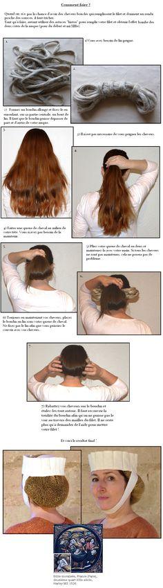 La crépine ou filet à cheveux - Cité d'Antan