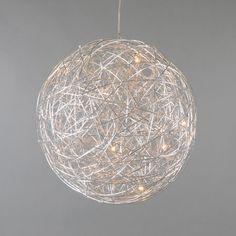 Hanglamp Draht bol 60cm aluminium