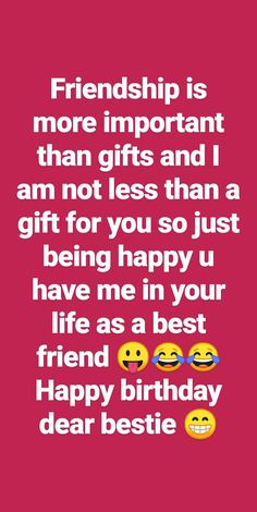 Happy Birthday Best Friend Quotes, Happy Birthday Quotes For Friends, Bff Quotes Funny, Jokes Quotes, Real Friendship Quotes, Good Thoughts Quotes, Birthday Messages, Captions, Wallpaper