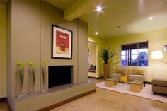 Living room inspiration - using multiple paint colors