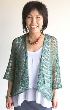 Crochet Vests Dandoh Cloud Cover - Online yarn store for knitters and crocheters. Designer yarn brands, knitting patterns, notions, knitting needles, and kits. Shop online or call Knitting Kits, Lace Knitting, Knitting Stitches, Knitting Needles, Crochet Cardigan, Knitted Shawls, Crochet Shawl, Crochet Vests, Moda Crochet