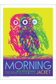 Kii Arens My Morning Jacket 8-12-2010 Poster