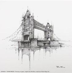 Likes, 2 Comments - architecture Architecture Drawing Art, Architecture Design, Art Sketches, Art Drawings, Hand Sketch, Tower Bridge, Instagram, Artwork, Photography