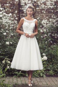 Tea Length Bridal and 50's Style Short Wedding Dresses   Brighton Belle   Dolly   True Bride