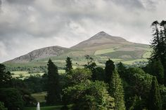 The Sugarloaf Mountain from the Gardens in Powerscourt