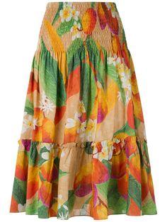 ISOLDA Printed Midi Skirt. #isolda #cloth #skirt