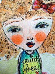 Art Eye Candy Original Art Postcard by Rachelle by ArtEyeCandy