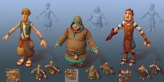Ingame Characters for last Project (Settlers) by Michael Filipowski | 3D | CGSociety