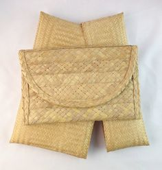 Vintage Two Bags in ONE Straw Clutch IN A Clutch. by casalupe, $29.00