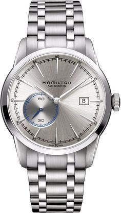 @hamiltonwfan American Classic Rail Road #bezel-fixed #bracelet-strap-steel #brand-hamilton #case-material-steel #case-width-42mm #date-yes #delivery-timescale-call-us #dial-colour-grey #gender-mens #luxury #movement-automatic #official-stockist-for-hamilton-watches #packaging-hamilton-watch-packaging #style-dress #subcat-american-classic #supplier-model-no-h40515181 #warranty-hamilton-official-2-year-guarantee #water-resistant-50m