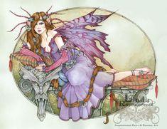 size: Giclee Print: Rapunzle by Linda Ravenscroft : Cross Stitch Books, Cross Stitch Art, Unicorns And Mermaids, Fairy Pictures, Earth Design, Fairy Art, Faeries, Fantasy Art, Book Art