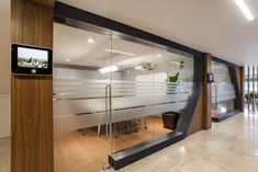 Inside Sampa Automotive's New Headquarters – Modern Office Design Office Cabin Design, Small Office Design, Corporate Office Design, Office Interior Design, Office Interiors, House Design, Interior Ideas, Bureau Design, Glass Partition Designs