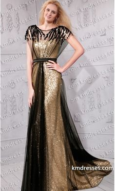 fabulous beaded color-block sequined underlay chiffon gown.prom dresses,formal dresses,ball gown,homecoming dresses,party dress,evening dresses,sequin dresses,cocktail dresses,graduation dresses,formal gowns,prom gown,evening gown.