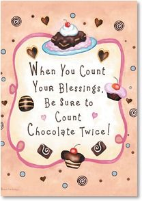Loving Thoughts Card - Double Chocolate Blessings!   Barbara Ann Kenney   2001947-P   Leanin' Tree