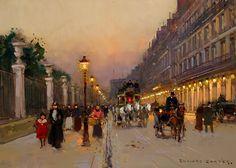 Rue de Rivoli by Edouard Cortes. Post-Impressionism. cityscape