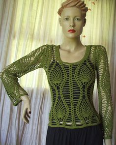Art & Manhas Tricô e Crochê: Blusa Ivy
