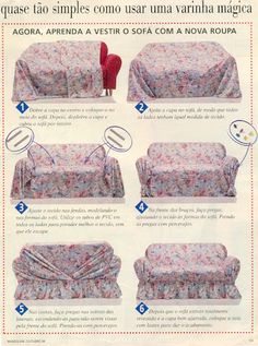 Picasa web albums - Different Ideas Diy Sofa Cover, Couch Covers, Furniture Covers, Furniture Makeover, Diy Furniture, Rideaux Design, Soft Furnishings, Slipcovers, Sewing Hacks