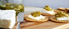 The candied jalapeños, brie and crackers are the most delicious combination and scream Fall weather on a beautiful day. The recipe is simple and quick, perfect for any gathering or picnic.