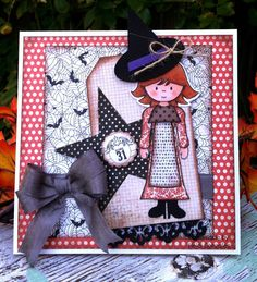 """by Heidi Gonzales: My Lil Scrap Corner. Recipe:  Papers: Authentique Collection-""""Thrilling,"""" Papertrey Ink-""""Cardstock."""" Stamp/Die-""""Paper Sweeties,"""" EK Success Border Punch. Misc.: Seam Binding, Twine."""