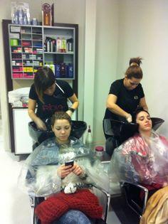 Nuestras estilistas Mireya y Julissa #galaSC #look #tendencias