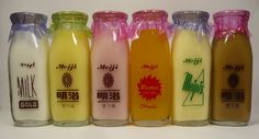 Vintage Japanese milk bottles
