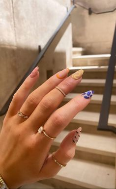 Uñas Kylie Jenner, Ongles Kylie Jenner, Kylie Jenner Nails, Aycrlic Nails, Swag Nails, Hair And Nails, Grunge Nails, Funky Nails, Fire Nails