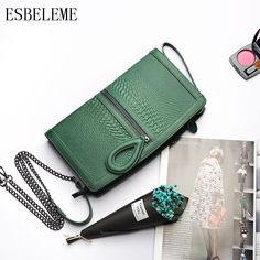 d43b72c641 2018 New arrival Genuine Leather Women Handbags for Female Serpentine  Crossbody Chain Bags Cow Leather Woman