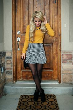 16 outstanding Thanksgiving outfit ideas Thanksgiving ideas 2019 for amazing outfits and dresses have been there for all those girls out there who're still confused to decide what's best is there. Holiday Outfits, Fall Winter Outfits, Autumn Winter Fashion, Dress Winter, Winter Fashion Outfits, Party Outfits, Winter Women's Fashion, Skirt Outfits For Winter, Work Outfit Winter