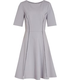 Tianna Chromatic Blue Fit And Flare Dress - REISS