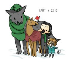 New Year's with Loki and children